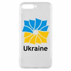 Чехол для Huawei Y6 2018 Ukraine квадратний прапор - FatLine