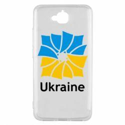 Чехол для Huawei Y6 Pro Ukraine квадратний прапор - FatLine