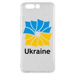 Чехол для Huawei P10 Ukraine квадратний прапор - FatLine