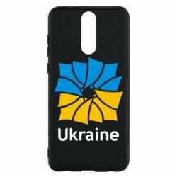 Чехол для Huawei Mate 10 Lite Ukraine квадратний прапор - FatLine