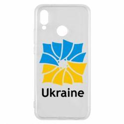 Чехол для Huawei P20 Lite Ukraine квадратний прапор - FatLine