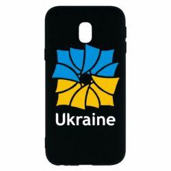 Чехол для Samsung J3 2017 Ukraine квадратний прапор