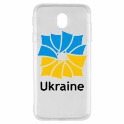 Чехол для Samsung J7 2017 Ukraine квадратний прапор