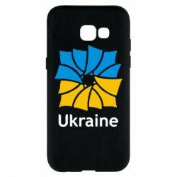Чехол для Samsung A5 2017 Ukraine квадратний прапор - FatLine