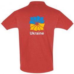 Мужская футболка поло Ukraine квадратний прапор