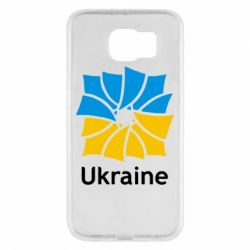 Чехол для Samsung S6 Ukraine квадратний прапор