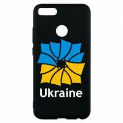 Чехол для Xiaomi Mi A1 Ukraine квадратний прапор - FatLine