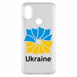 Чехол для Xiaomi Mi A2 Ukraine квадратний прапор
