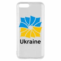 Чехол для Xiaomi Mi6 Ukraine квадратний прапор - FatLine