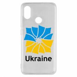 Чехол для Xiaomi Mi8 Ukraine квадратний прапор - FatLine