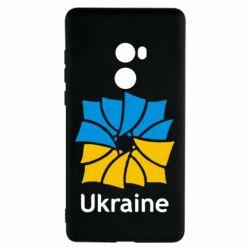 Чехол для Xiaomi Mi Mix 2 Ukraine квадратний прапор - FatLine