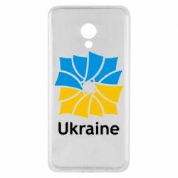 Чехол для Meizu M5 Ukraine квадратний прапор - FatLine