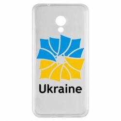 Чехол для Meizu M5s Ukraine квадратний прапор - FatLine