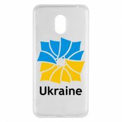 Чехол для Meizu M6 Ukraine квадратний прапор - FatLine