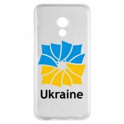 Чехол для Meizu Pro 6 Ukraine квадратний прапор - FatLine