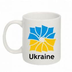 Кружка 320ml Ukraine квадратний прапор - FatLine