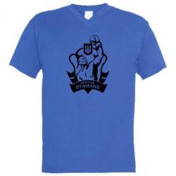 Мужская футболка  с V-образным вырезом Ukraine otamans