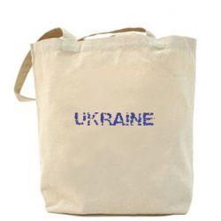 Сумка Ukraine (потрісканий напис) - FatLine