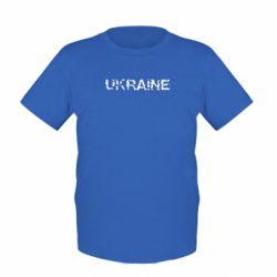 Детская футболка Ukraine (потрісканий напис) - FatLine