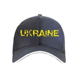 Кепка Ukraine (потрісканий напис) - FatLine