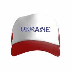 Детская кепка-тракер Ukraine (потрісканий напис)