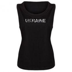 Женская майка Ukraine (потрісканий напис) - FatLine