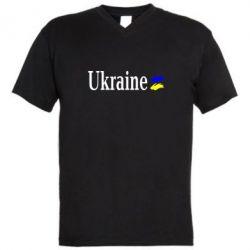 Мужская футболка  с V-образным вырезом Ukraine - FatLine