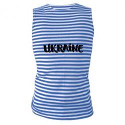 Майка-тельняшка Ukraine
