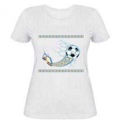 Женская футболка Ukrainian football