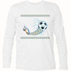 Купить Футболка с длинным рукавом Ukrainian football, FatLine