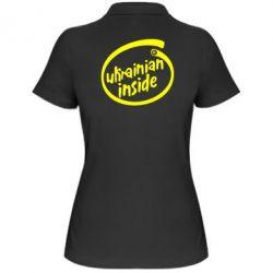 Женская футболка поло Ukrainian inside - FatLine