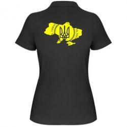Женская футболка поло Ukrainian Map - FatLine