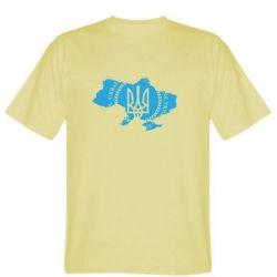Мужская футболка Ukrainian Map - FatLine