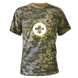 Камуфляжная футболка Ukrainian Scout Map - FatLine