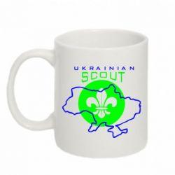 Кружка 320ml Ukrainian Scout Map - FatLine