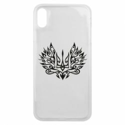 Чохол для iPhone Xs Max Ukrainian trident with a pattern
