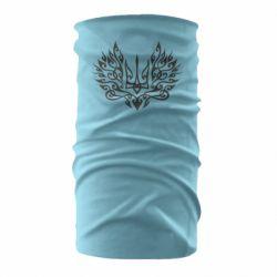 Бандана-труба Ukrainian trident with a pattern
