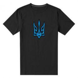 Чоловіча стрейчева футболка Ukrainian trident with contour
