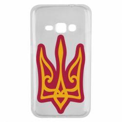 Чохол для Samsung J1 2016 Ukrainian trident with contour