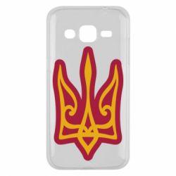 Чохол для Samsung J2 2015 Ukrainian trident with contour