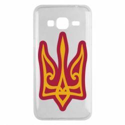 Чохол для Samsung J3 2016 Ukrainian trident with contour