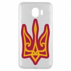 Чохол для Samsung J4 Ukrainian trident with contour