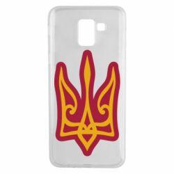 Чохол для Samsung J6 Ukrainian trident with contour