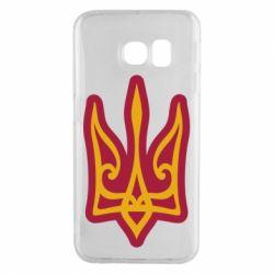 Чохол для Samsung S6 EDGE Ukrainian trident with contour