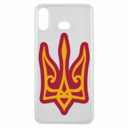 Чохол для Samsung A6s Ukrainian trident with contour