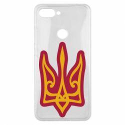 Чохол для Xiaomi Mi8 Lite Ukrainian trident with contour