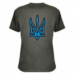 Камуфляжна футболка Ukrainian trident with contour