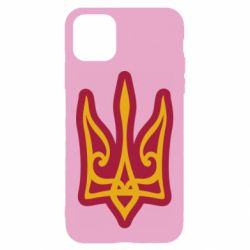 Чохол для iPhone 11 Ukrainian trident with contour
