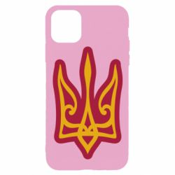 Чохол для iPhone 11 Pro Ukrainian trident with contour