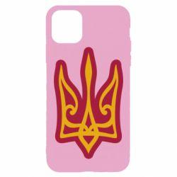 Чохол для iPhone 11 Pro Max Ukrainian trident with contour